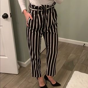 H&M pinstripe trouser with bow 🎀 NWOT